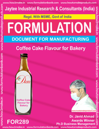 Coffee cake flavor for bakery (Formula 289)