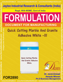 Quick Setting Marble And Granite Adhesive White –III (for2890)