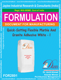 Quick seting Flexible Marble &Granite Adhesive White I (for2891