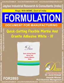 Quick seting Flexible Marble &Granite Adhesive White III(for2893