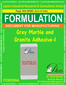 Grey Marble and Granite Adhesive -I (for2894)