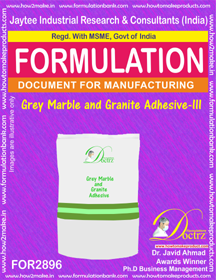 Grey Marble and Granite Adhesive -III (for2896)