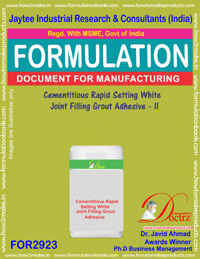 Cementitious Rapid Seting White Joint Filling Grout Adhesive-II