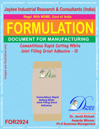 Cementitious Rapid Seting White Joint Filling Grout Adhesive-III