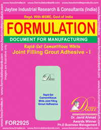 Rapid-Set Cementitious White Joint Filling Grout Adhesive - I