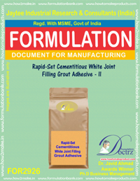 Rapid-Set Cementitious White Joint Filling Grout Adhesive - II