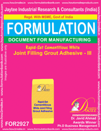 Rapid-Set Cementitious White Joint Filling Grout Adhesive - III