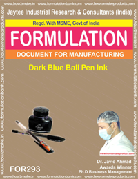 Dark blue ball pen ink (formula No 293)