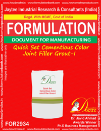Quick Set Cementious Color Joint Filler Grout-I (for2934)