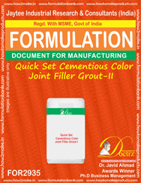 Quick Set Cementious Color Joint Filler Grout-II (for2935)