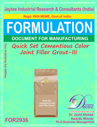 Quick Set Cementious Color Joint Filler Grout-III (for2936)