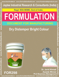 Dry distemper bright color (Formula No 298)