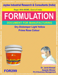 Dry distemper light yellow color(Formula No 299)