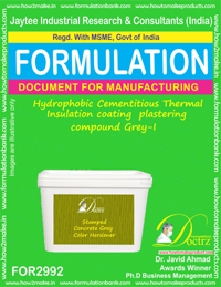 Hydrophobic Cementitious Thermal Insulation coating plastering