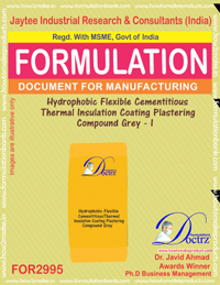 Hydrophobic Flexible Cementitious Thermal Insulation I (for2995)