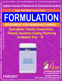 Hydrophobic Flexible Cementitious Thermal Insulation III(2997)
