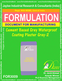 Cement Based Grey Waterproof Coating Plaster Grey-II (FOR3009)