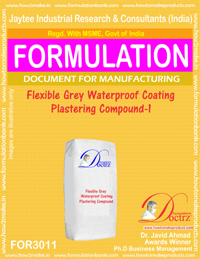 Flexible Grey Waterproof Coating Plastering Compound-1(for3011)