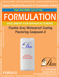 Flexible Grey Waterproof Coating Plastering Compound-2 (for3012)