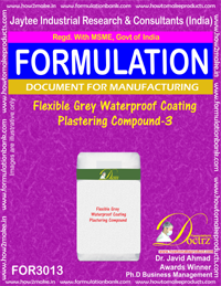 Flexible Grey Waterproof Coating Plastering Compound-3 (for3013)