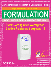 Quick Setting Grey Waterproof Coating Plastering Compound1 (3014