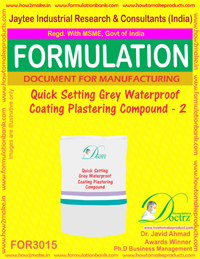Quick Setting Grey Waterproof Coating Plastering Compound2(3015