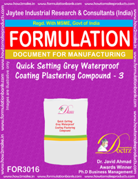 Quick Setting Grey Waterproof Coating Plastering Compound3(3016