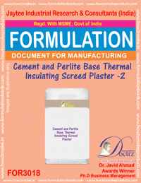 Cement and Perlite Base Thermal Insulating Screed Plaster - II