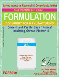 Cement and Perlite Base Thermal Insulating Screed Plaster - III