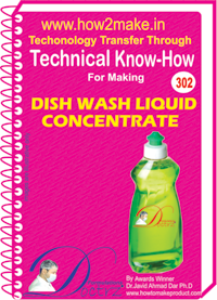 Dish Wash Liquid Concentrate Technical Know how Report (TNHR302)
