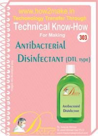 Antiseptic Disinfectant fluid DTL type Tec.l Knowhow (TNHR303)