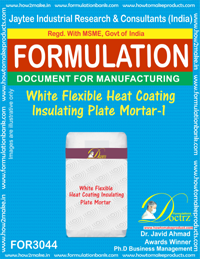 White Flexible Heat Coating Insulating Plate Mortar-1