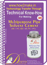 Multipurpose Pipe Solvent Cement Know-how Report (TNHR305)