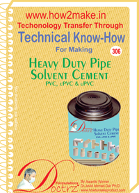 Heavy Duty Pipe Solvent Cement for PVC, cPVC & uPVC (TNHR306)