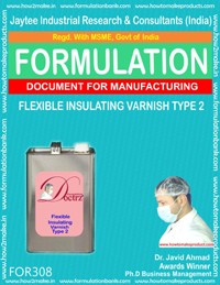 Flexible insulating varnish making formula 2 (Formula No 308)