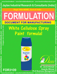 White Cellulose Spray Paint formula1 (FOR3109)
