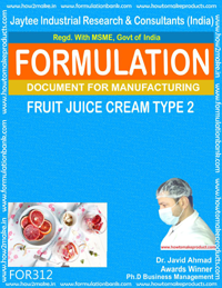 Formula of Fruit juice cream type 2( Formula 312 )