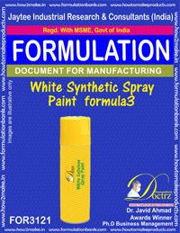 White Synthetic Spray Paint Formula3