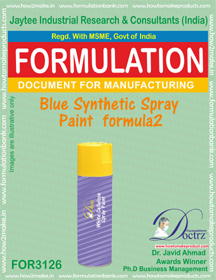Blue Synthetic Spray Paint Formula2 (for3126)