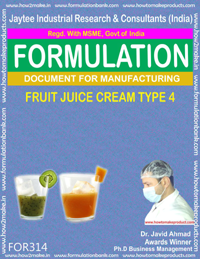 Formula of Fruit juice cream type 4( Formula 314 )