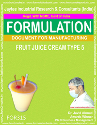 Formula of Fruit juice cream type 5 ( Formula 315 )