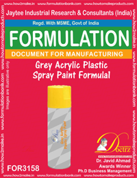 Grey Acrylic Plastic Spray Paint Formula1 (for3158)