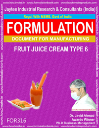 Formula of Fruit juice cream type 6 ( Formula 316 )