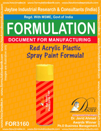 Red Acrylic Plastic Spray Paint Formulation1(for3160)