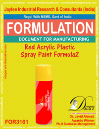 Red Acrylic Plastic Spray Paint Formulation2(for3161)
