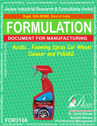 Acidic , foaming spray Car Wheel Cleaner and Polish2 (for3166)