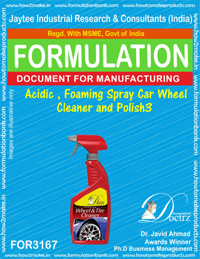 Acidic , foaming spray Car Wheel Cleaner and Polish3 (for3167)