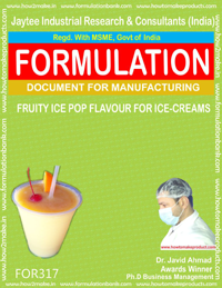 Fruit ice-pop up flavor for ice cream( Formula 317)