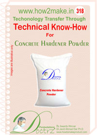 Concrete Hardener Powder (318 tnhr) Technical knowhow