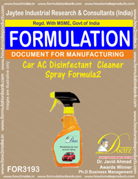 Car AC Disinfectant Cleaner Spray Formula2 (for3193)
